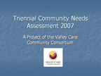 Community Needs Assessment 2007
